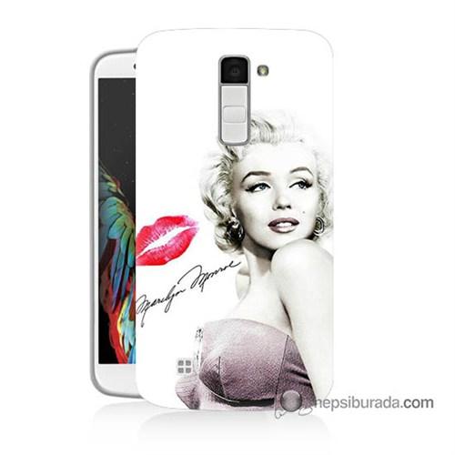 Teknomeg Lg K10 Kapak Kılıf Marilyn Monroe Baskılı Silikon