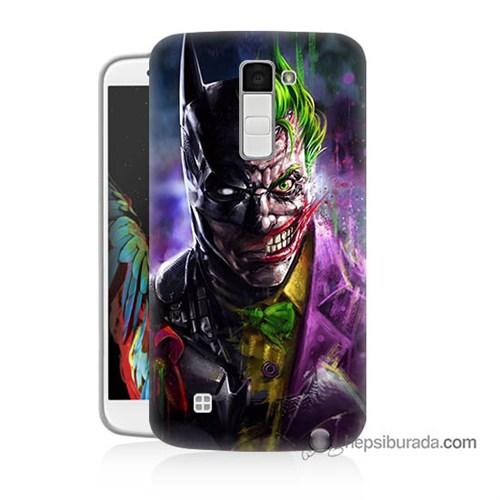 Teknomeg Lg K10 Kılıf Kapak Batman Vs Joker Baskılı Silikon