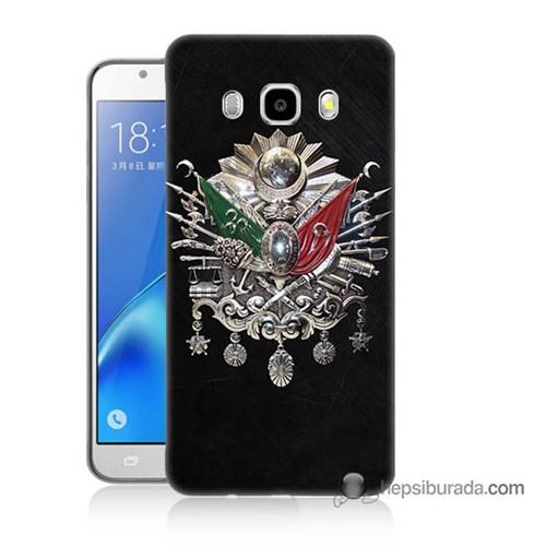 Teknomeg Samsung J5 2016 Kapak Kılıf Osmanlı Baskılı Silikon