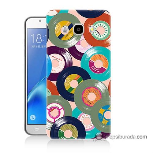 Teknomeg Samsung J5 2016 Kapak Kılıf Renkli Plaklar Baskılı Silikon