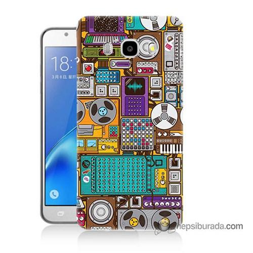 Teknomeg Samsung J5 2016 Kılıf Kapak Teknoloji Baskılı Silikon