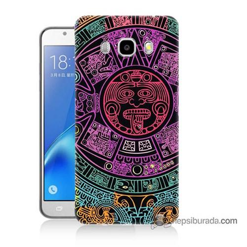 Teknomeg Samsung J5 2016 Kılıf Kapak Mayalar Baskılı Silikon