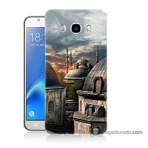 Teknomeg Samsung J5 2016 Kapak Kılıf Cami Baskılı Silikon