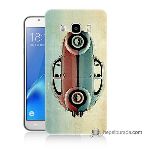 Teknomeg Samsung J5 2016 Kılıf Kapak Mavi Kırmızı Wolkswagen Baskılı Silikon