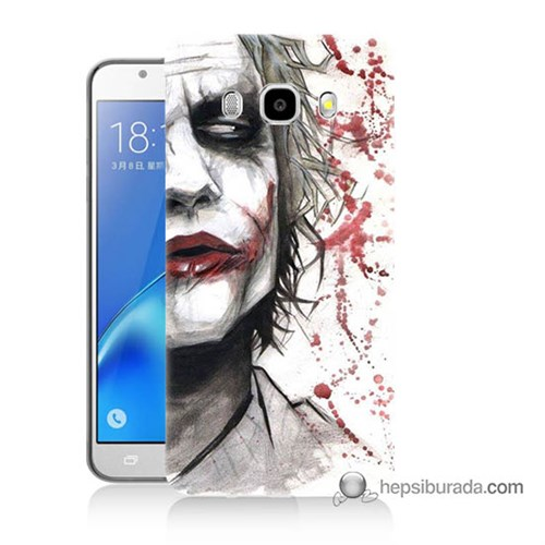 Teknomeg Samsung J5 2016 Kapak Kılıf Kanlı Joker Baskılı Silikon