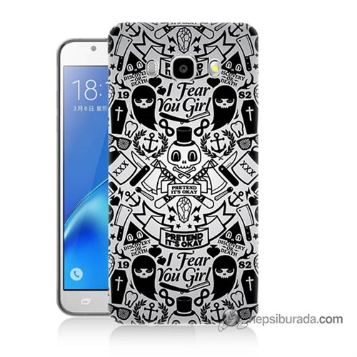 Teknomeg Samsung J5 2016 Kılıf Kapak Karikatür Baskılı Silikon