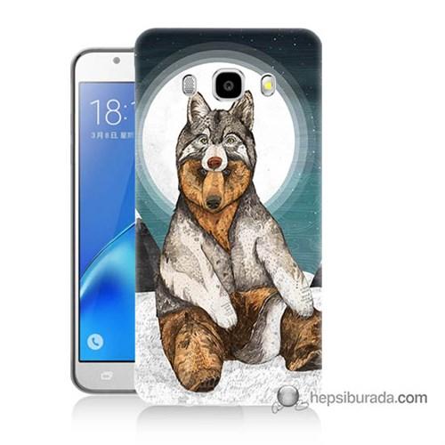 Teknomeg Samsung J5 2016 Kapak Kılıf Postlu Ayı Baskılı Silikon