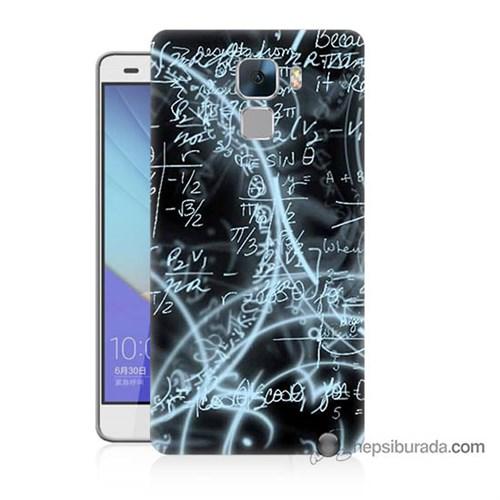 Teknomeg Huawei Honor 7 Kapak Kılıf Matematik Baskılı Silikon