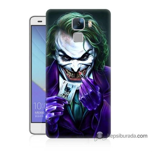 Teknomeg Huawei Honor 7 Kapak Kılıf Joker Baskılı Silikon