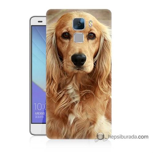 Teknomeg Huawei Honor 7 Kapak Kılıf Köpek Baskılı Silikon