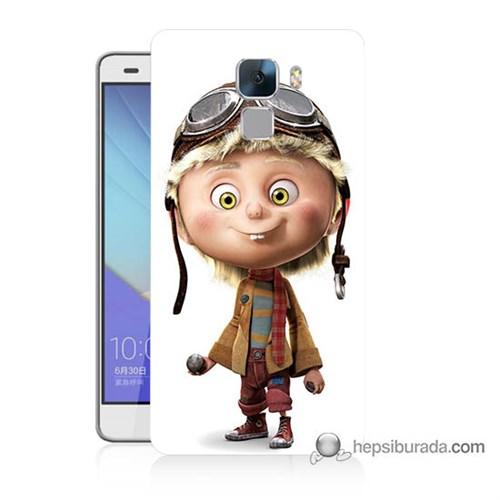 Teknomeg Huawei Honor 7 Kılıf Kapak Çizgi Karakter Baskılı Silikon