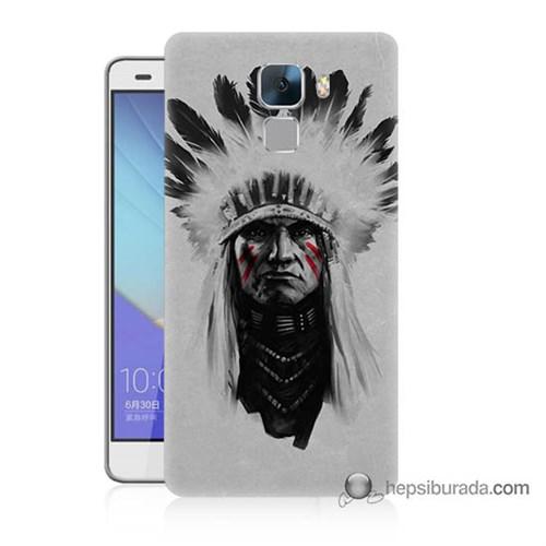 Teknomeg Huawei Honor 7 Kılıf Kapak Geronimo Baskılı Silikon