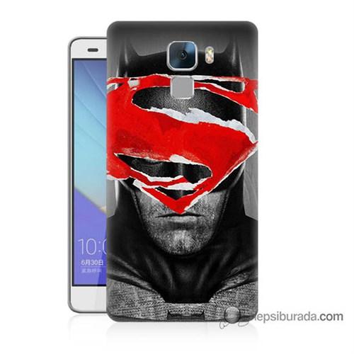 Teknomeg Huawei Honor 7 Kapak Kılıf Batman Vs Superman Baskılı Silikon