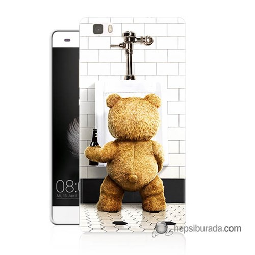 Teknomeg Huawei P8 Lite Kılıf Kapak Tedy Bear Baskılı Silikon
