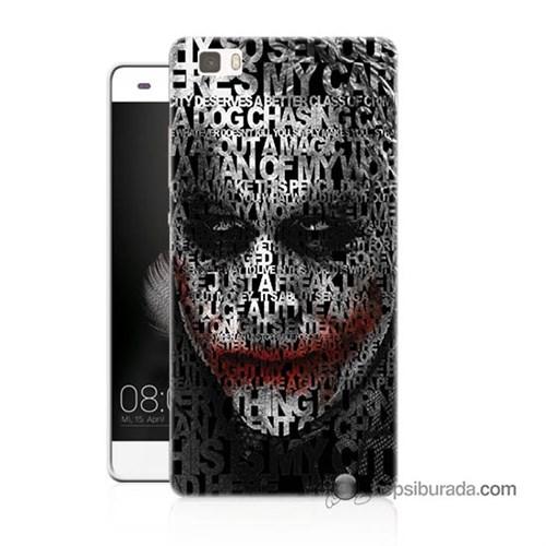 Teknomeg Huawei P8 Lite Kapak Kılıf Joker Baskılı Silikon