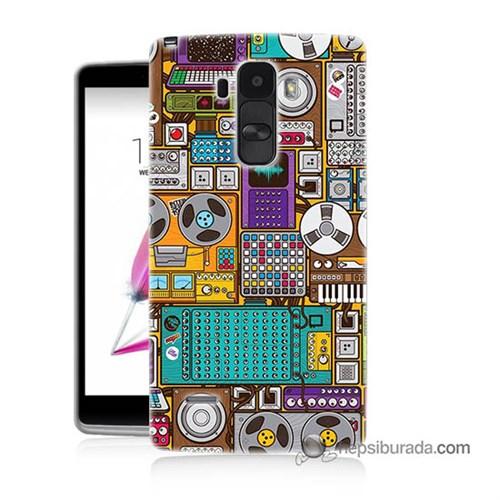 Teknomeg Lg G4 Stylus Kılıf Kapak Teknoloji Baskılı Silikon
