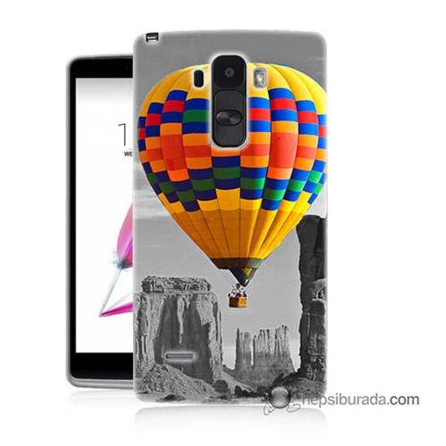 Teknomeg Lg G4 Stylus Kılıf Kapak Renkli Uçan Balon Baskılı Silikon