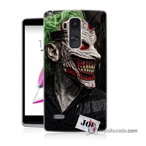 Teknomeg Lg G4 Stylus Kapak Kılıf Joker Joe Baskılı Silikon