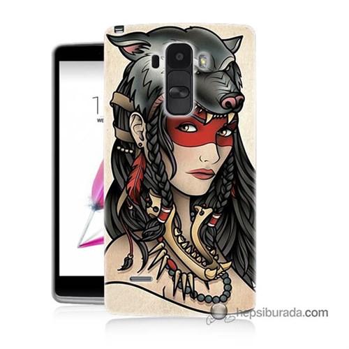 Teknomeg Lg G4 Stylus Kapak Kılıf Pocahontas Baskılı Silikon