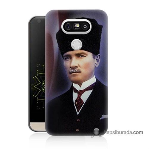 Teknomeg Lg G5 Kılıf Kapak Mustafa Kemal Atatürk Baskılı Silikon