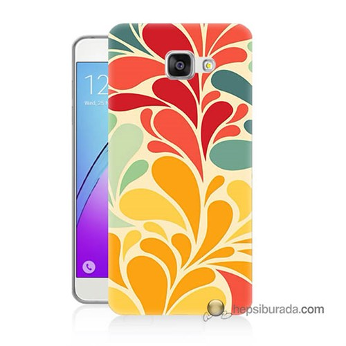 Teknomeg Samsung Galaxy A3 2016 Kapak Kılıf Çiçekler Baskılı Silikon