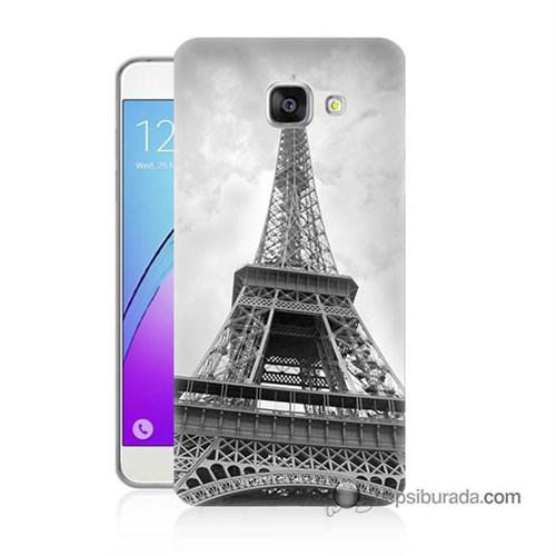 Teknomeg Samsung Galaxy A3 2016 Kapak Kılıf Eyfel Kulesi Baskılı Silikon