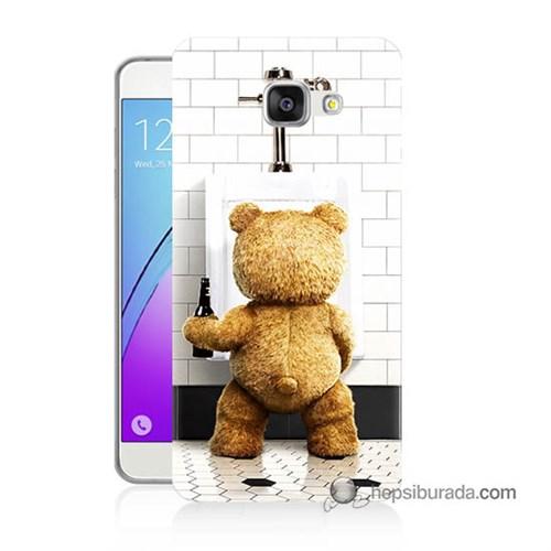 Teknomeg Samsung Galaxy A3 2016 Kılıf Kapak Tedy Bear Baskılı Silikon