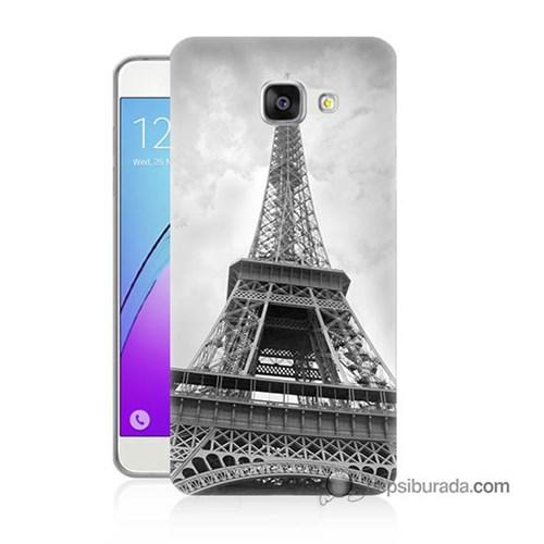 Teknomeg Samsung Galaxy A7 2016 Kapak Kılıf Eyfel Kulesi Baskılı Silikon