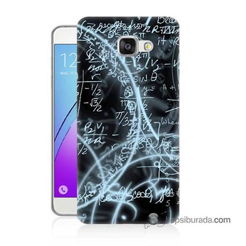 Teknomeg Samsung Galaxy A7 2016 Kapak Kılıf Matematik Baskılı Silikon