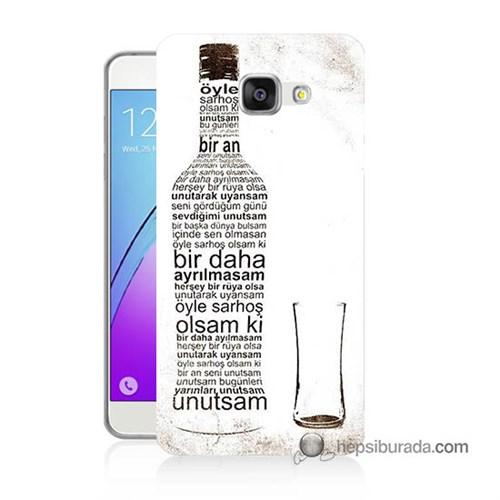 Teknomeg Samsung Galaxy A7 2016 Kapak Kılıf Rakı Şişesi Baskılı Silikon