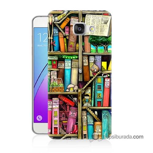 Teknomeg Samsung Galaxy A7 2016 Kapak Kılıf Kitaplık Baskılı Silikon