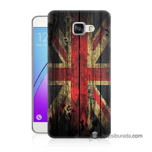 Teknomeg Samsung Galaxy A7 2016 Kapak Kılıf İngiliz Bayrağı Baskılı Silikon