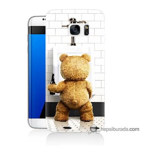Teknomeg Samsung Galaxy S7 Edge Kılıf Kapak Tedy Bear Baskılı Silikon