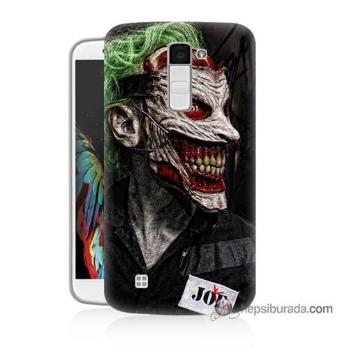 Teknomeg Lg K10 Kapak Kılıf Joker Joe Baskılı Silikon