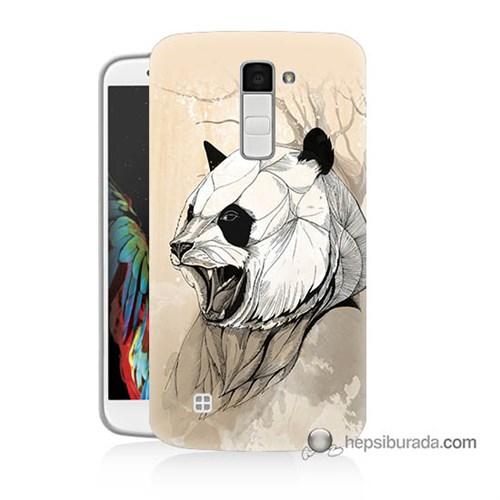 Teknomeg Lg K10 Kapak Kılıf Kavgacı Panda Baskılı Silikon