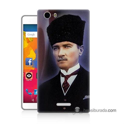Teknomeg Casper Via M1 Kılıf Kapak Mustafa Kemal Atatürk Baskılı Silikon