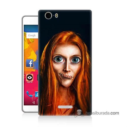 Teknomeg Casper Via M1 Kılıf Kapak Zombie Kız Baskılı Silikon