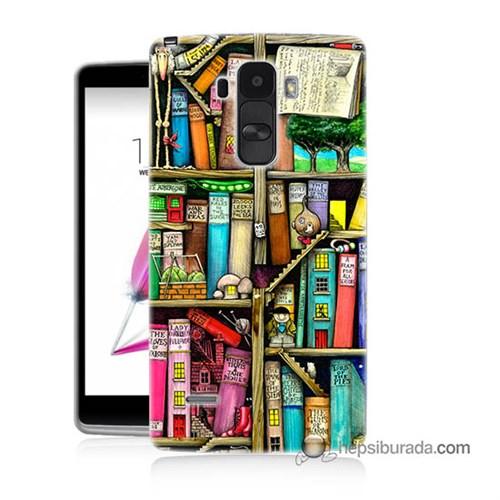 Teknomeg Lg G4 Stylus Kapak Kılıf Kitaplık Baskılı Silikon