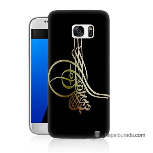 Teknomeg Samsung Galaxy S7 Kılıf Kapak Tuğra Osmanlı Baskılı Silikon