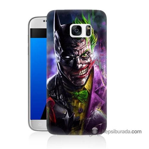 Teknomeg Samsung Galaxy S7 Kılıf Kapak Batman Vs Joker Baskılı Silikon