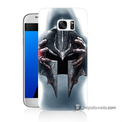 Teknomeg Samsung Galaxy S7 Kılıf Kapak Assassins Creed Baskılı Silikon