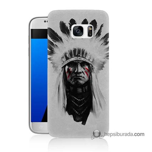 Teknomeg Samsung Galaxy S7 Kılıf Kapak Geronimo Baskılı Silikon