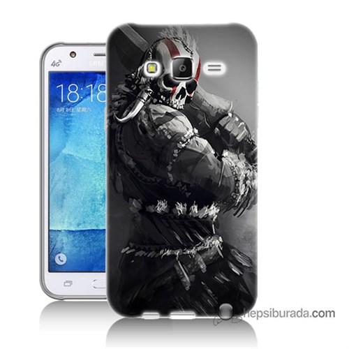 Teknomeg Samsung Galaxy J5 Kılıf Kapak Tribal Warrior Baskılı Silikon
