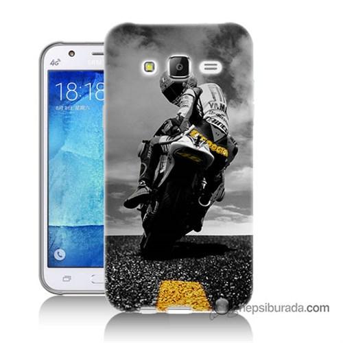 Teknomeg Samsung Galaxy J5 Kapak Kılıf Motorsiklet Baskılı Silikon