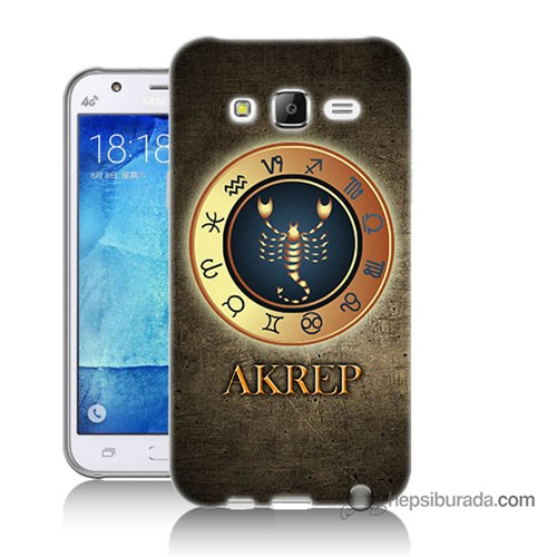 Teknomeg Samsung Galaxy J5 Kapak Kılıf Akrep Burcu Baskılı Silikon