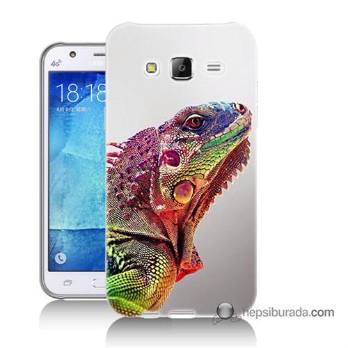 Teknomeg Samsung Galaxy J5 Kapak Kılıf İguana Baskılı Silikon