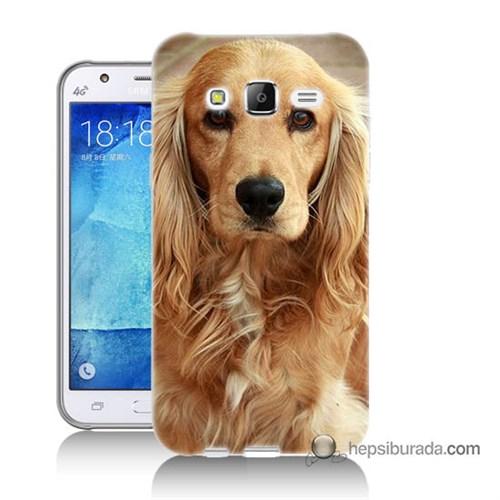 Teknomeg Samsung Galaxy J5 Kapak Kılıf Köpek Baskılı Silikon