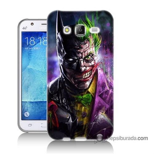 Teknomeg Samsung Galaxy J5 Kılıf Kapak Batman Vs Joker Baskılı Silikon