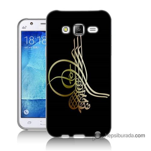Teknomeg Samsung Galaxy J7 Kılıf Kapak Tuğra Osmanlı Baskılı Silikon