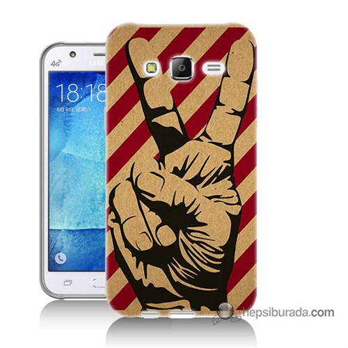 Teknomeg Samsung Galaxy J7 Kapak Kılıf Zafer Baskılı Silikon